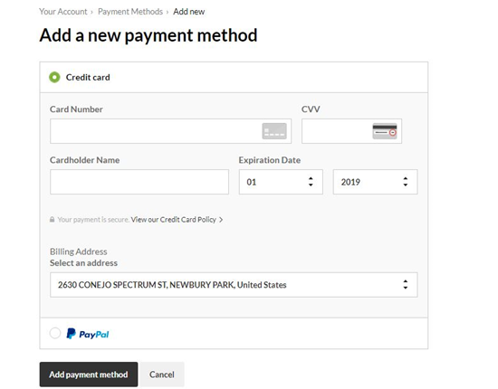 Managing Payment Methods – Help Center